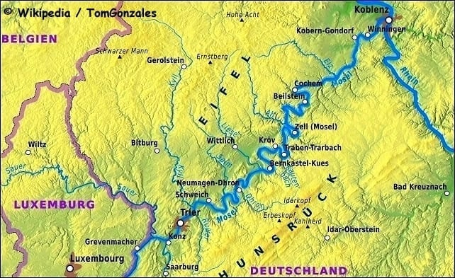 Visit The Castles On The Mosel River A Wonderful Trip Back In Time - Rhine valley germany map