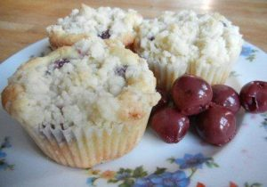 Cherry Streusel Muffins