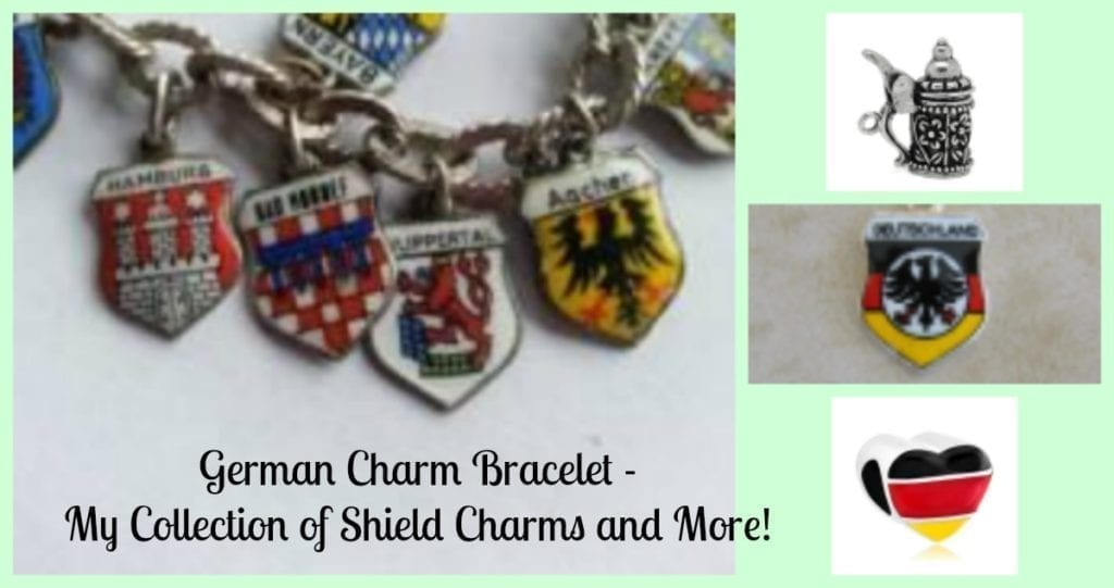 German Charm Bracelet - My Collection of Shield Charms and more!