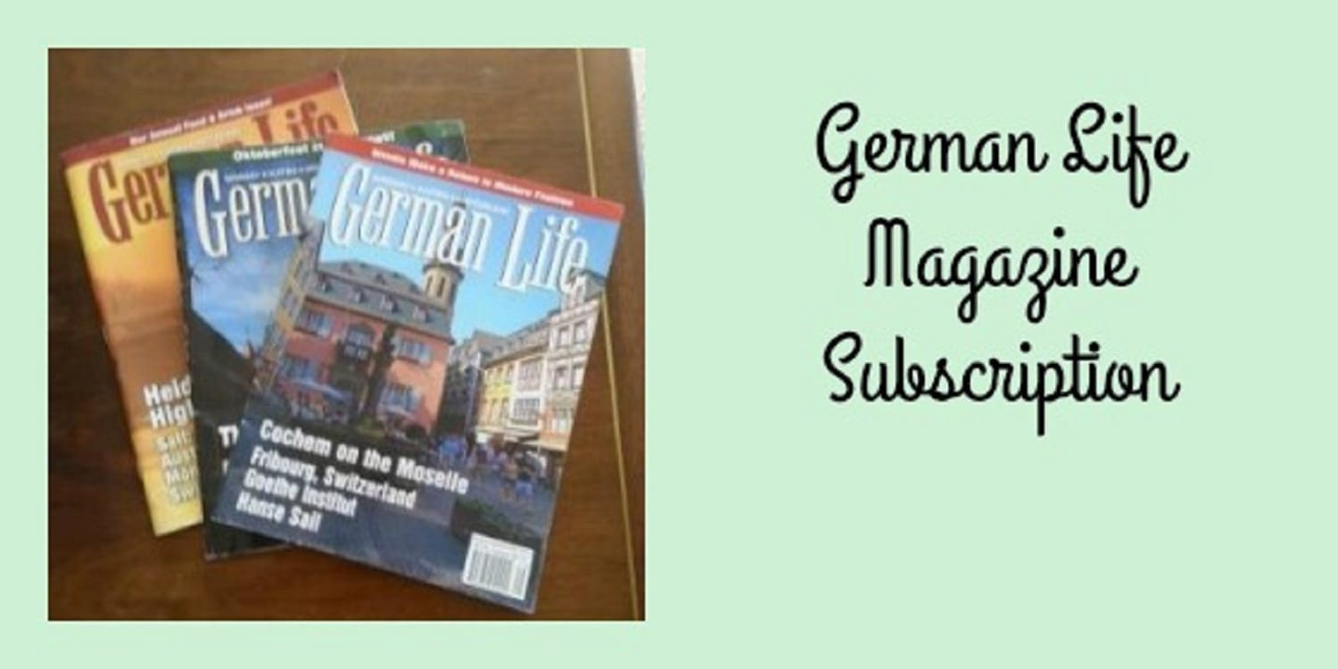 German Life Magazine Subscription- Travel, Culture, Recipes and Heritage