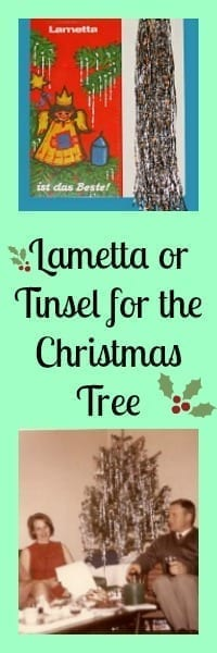 Lametta or Tinsel for the Christmas Tree