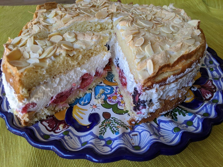 Easy Blitz Torte Recipe- Lightening Fast Cake with Cream and Fruit