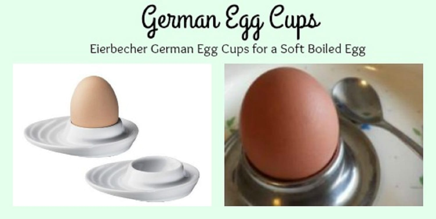 Eierbecher German Egg Cups for a Soft Boiled Egg