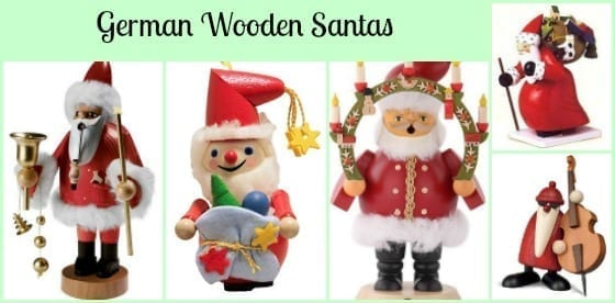 german wooden santas