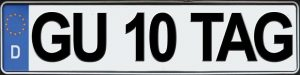 German License Plate Sticker