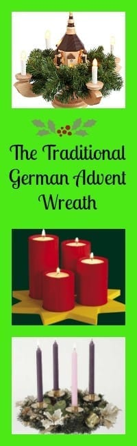 tradtional german advent wreath