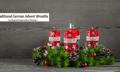 traditional german advent wreath