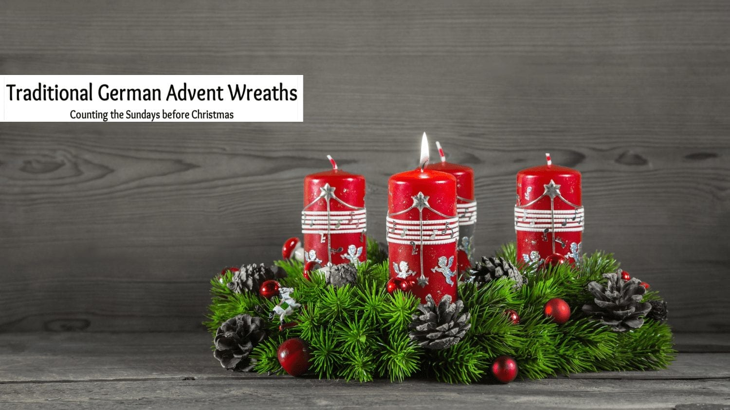 Traditional German Advent Wreath – Count the Sundays before Christmas