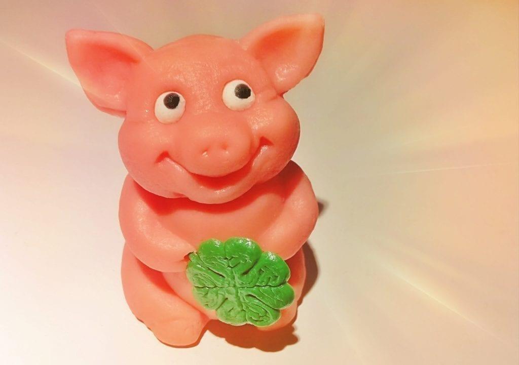 marzipan pig good luck