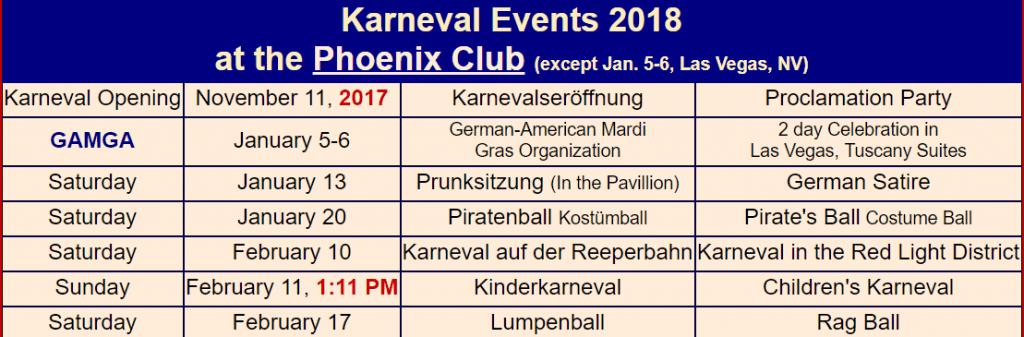 phoenix club karneval