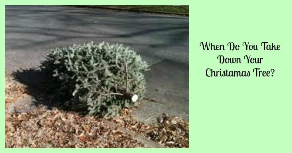 when do you take down your christmas tree