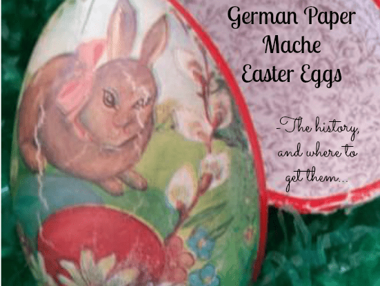 german paper mache easter eggs