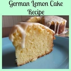 German Lemon Cake Recipe