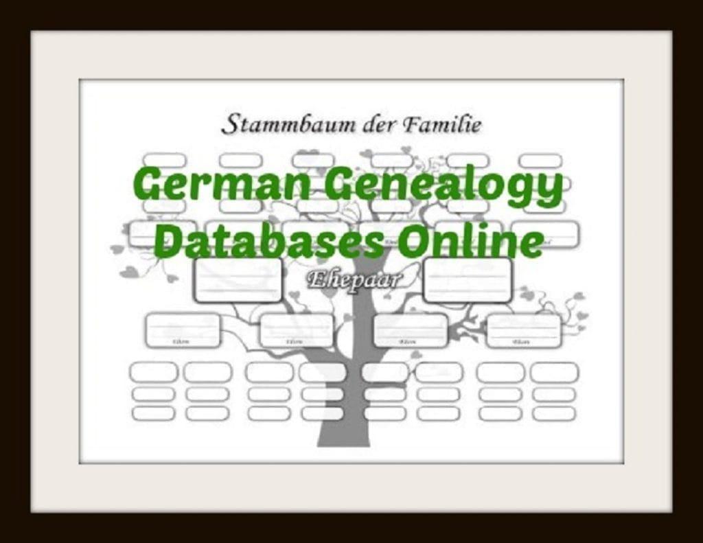 German Genealogy Databases Online Find German Family