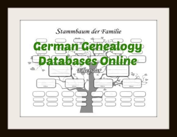 german genealogy databases online