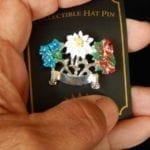 flowers hat pin