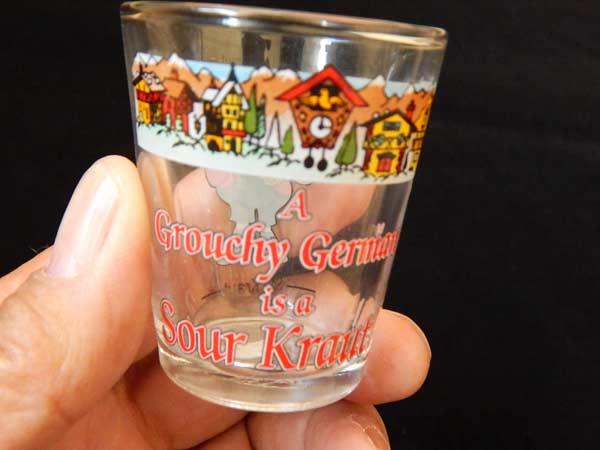 Grouchy German is a Sour Kraut Shot Glass