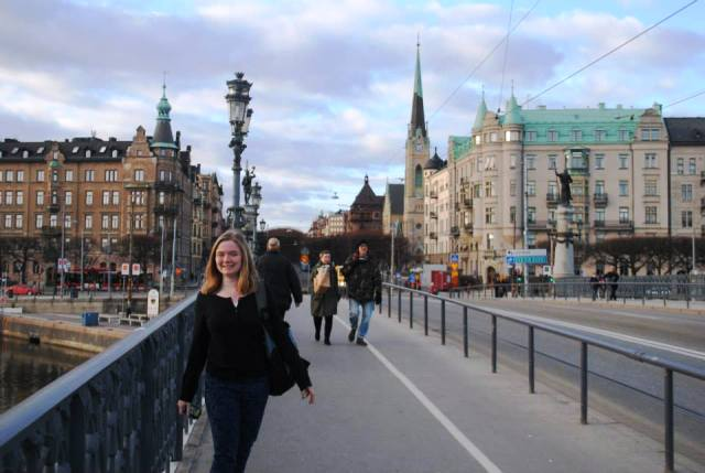 Libby in Stockholm, March 2014