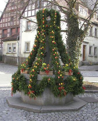 easter fountains germany