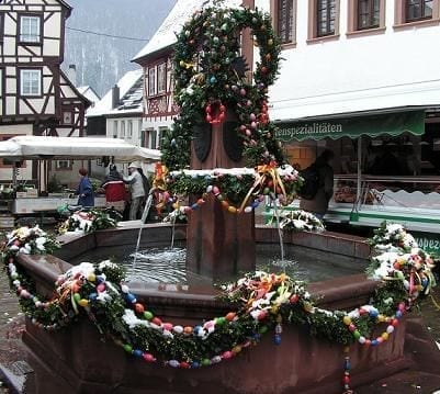 easter fountain germany