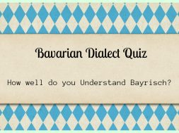 Bavarian dialect quiz