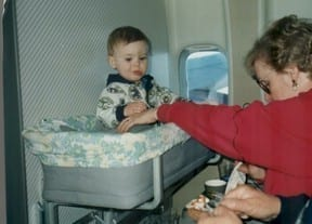 baby bassinet on plane