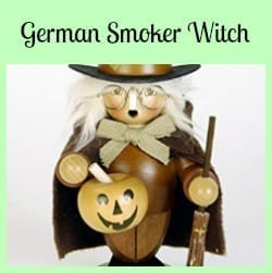German Smoker Witch- Fun Decoration for Halloween and Walpurgisnacht!