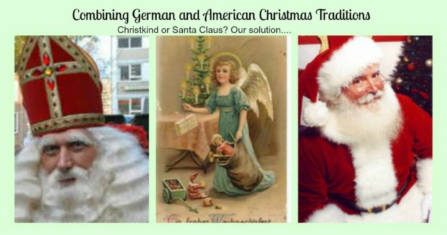 Combining German & American Christmas Traditions-Christkind and Santa