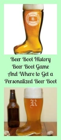 personalized beer boot