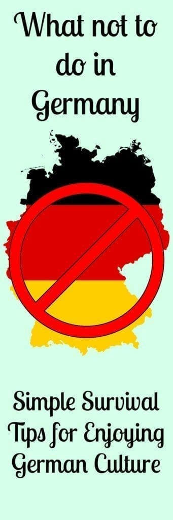 what not to do germany