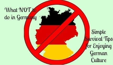 what not to do in germany 3