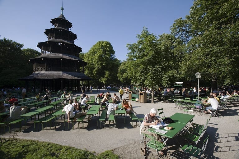 Beer gardens Munich