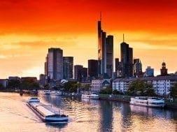 Sunset in Frankfurt am Main