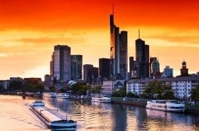 Sunset in Frankfurt am Main