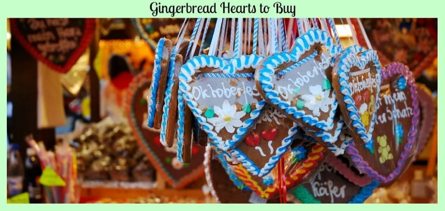 Gingerbread Hearts to Buy -German Heart Cookies for your Schatzi!