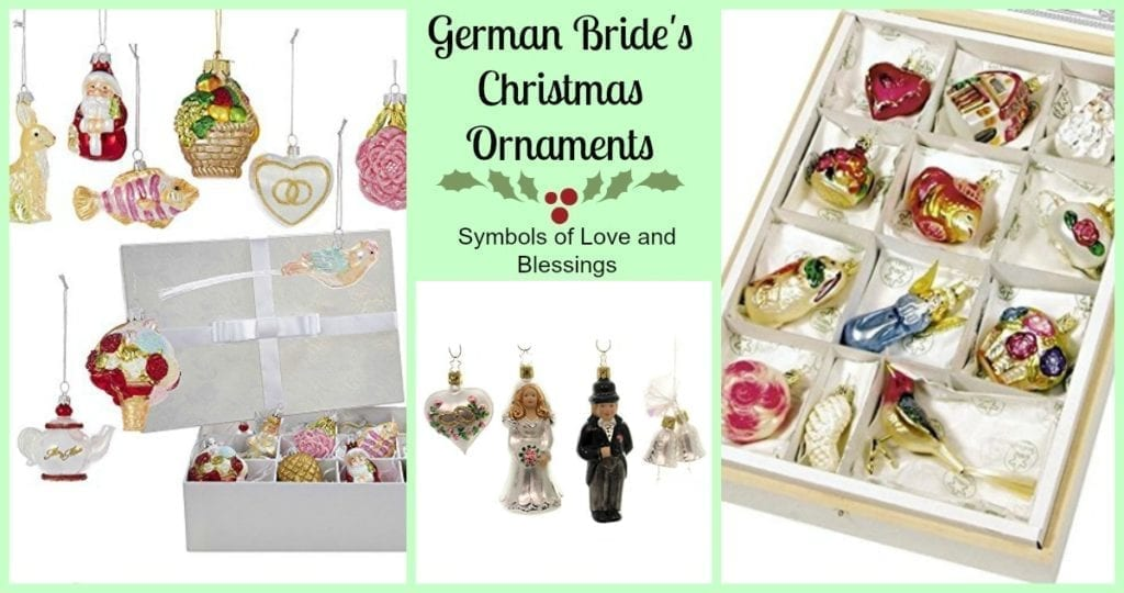 german bride ornaments