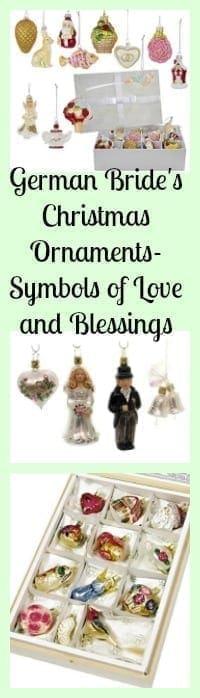 german brides christmas ornaments