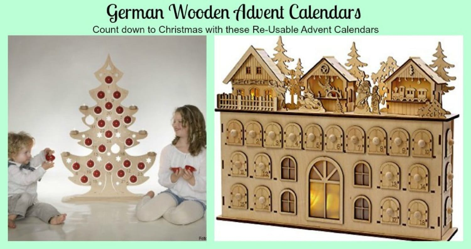 german wooden advent calendars use them every year - Wooden Led Christmas Decoration