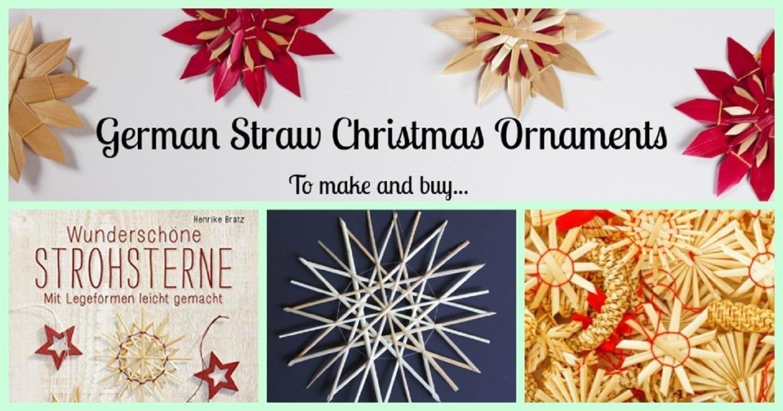 german straw christmas ornaments