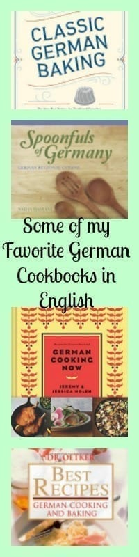 german cookbooks in english