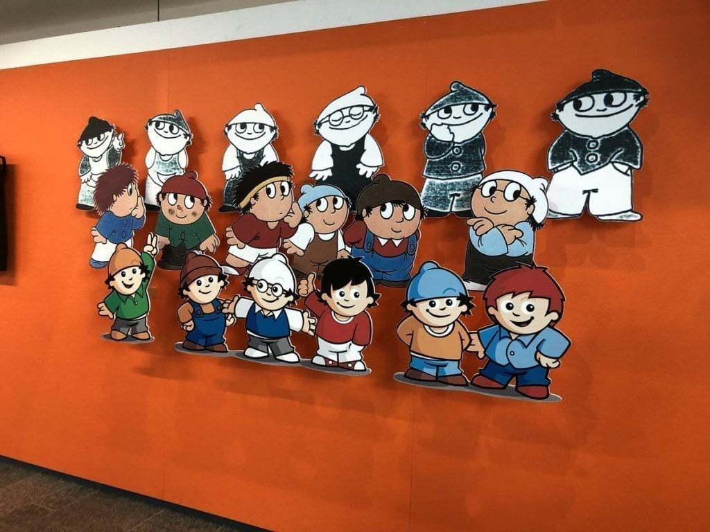 cartoon men on german tv