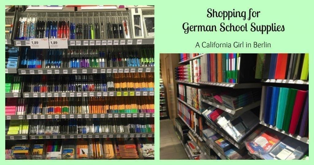 german school supplies