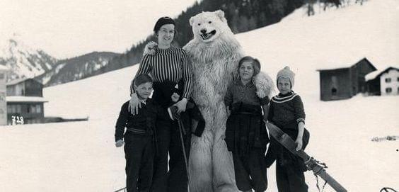polar bear costume photo germany
