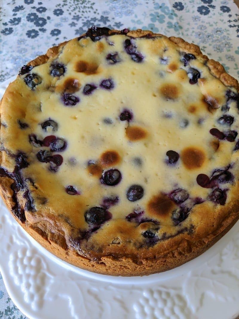 German Blueberry Cake - Heidelbeerkuchen