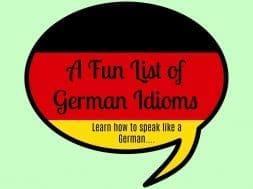 german idioms list