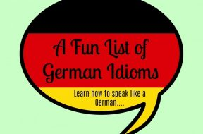 german idioms list