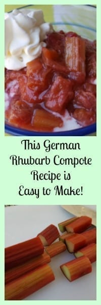 german rhubarb compote is easy
