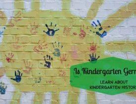 is kindergarten german