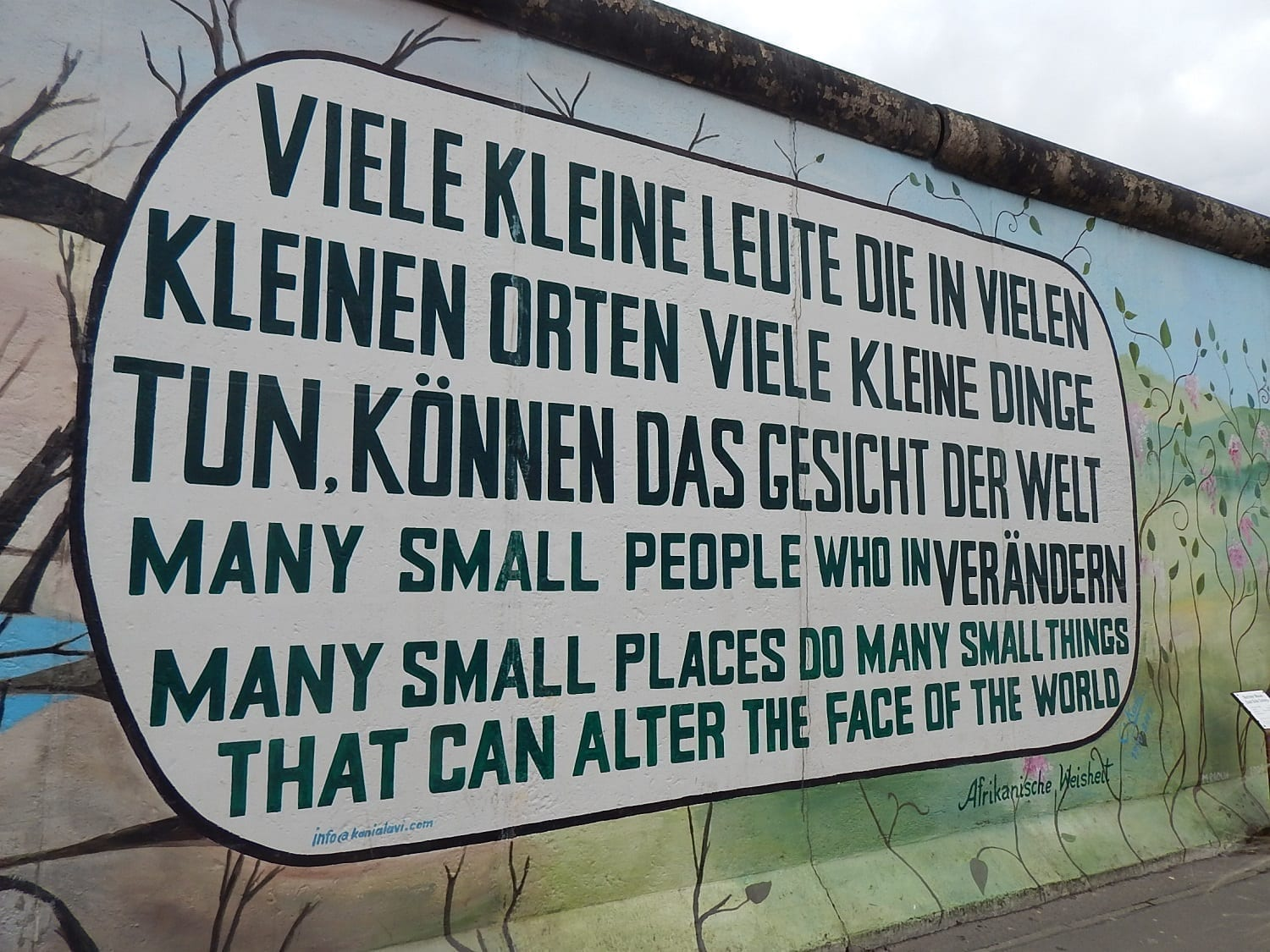 A Visit to the East Side Gallery Berlin