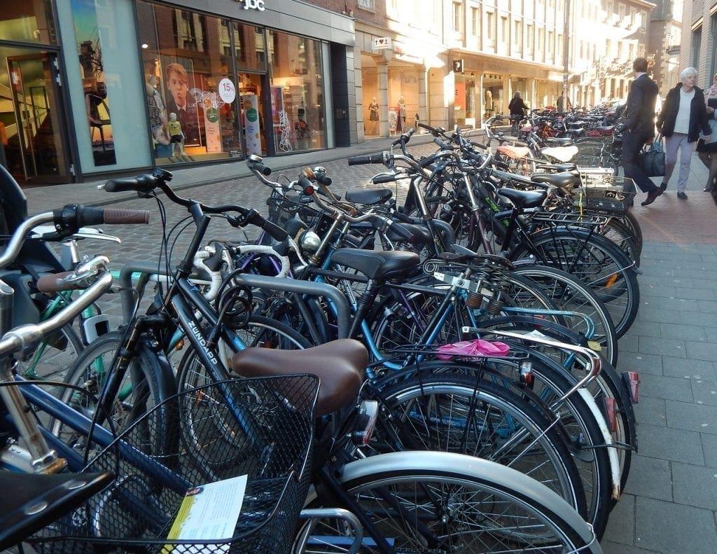 biking in Muenster